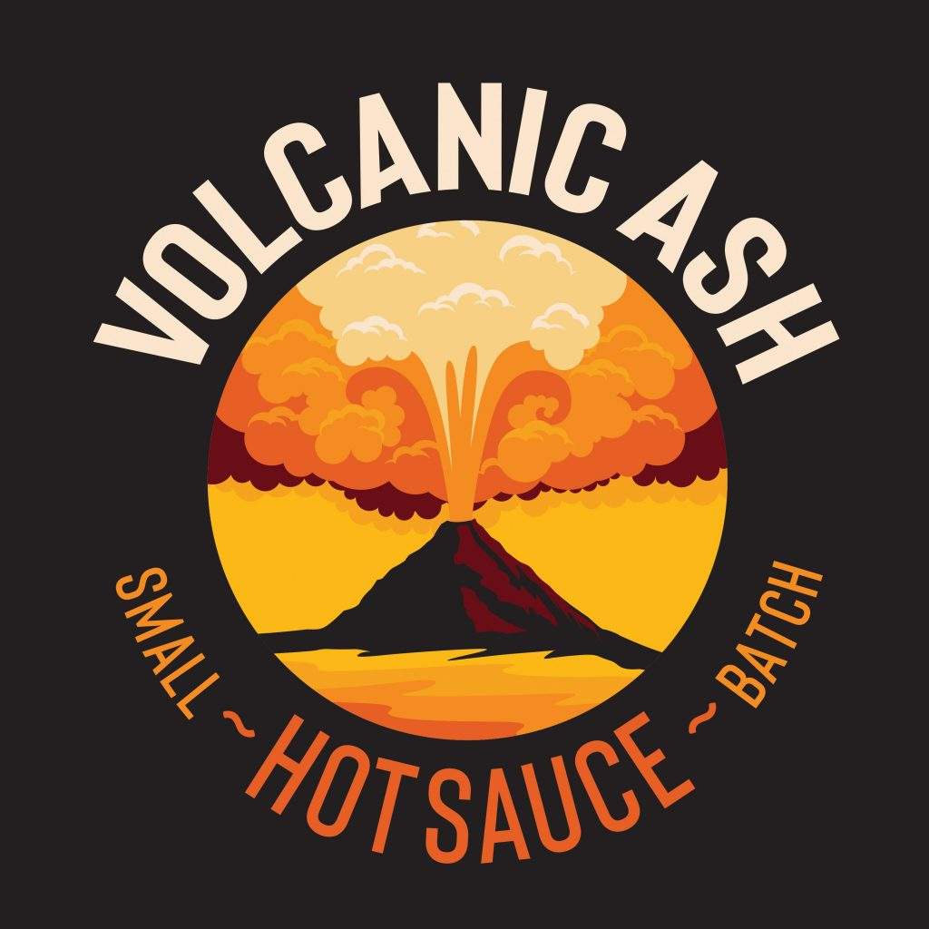 Volcanic Ash Small Batch Hot Sauce Logo